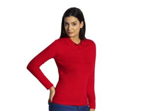 Ženska pamučna polo majica dugih rukava
